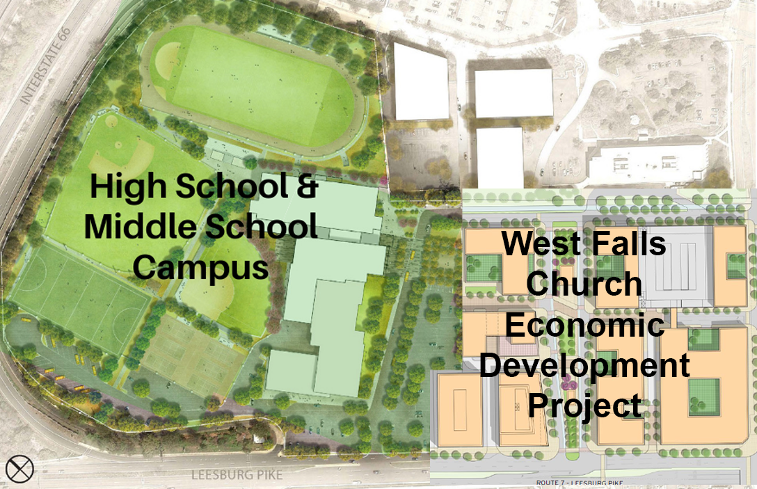 Updated Map of the West Falls Church Project and the High School Campus Project