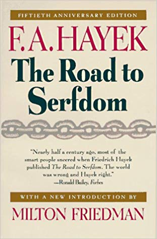 The Road to Serfdom (book cover)