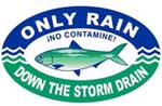 Only Rain Down the Strom Drain Logo
