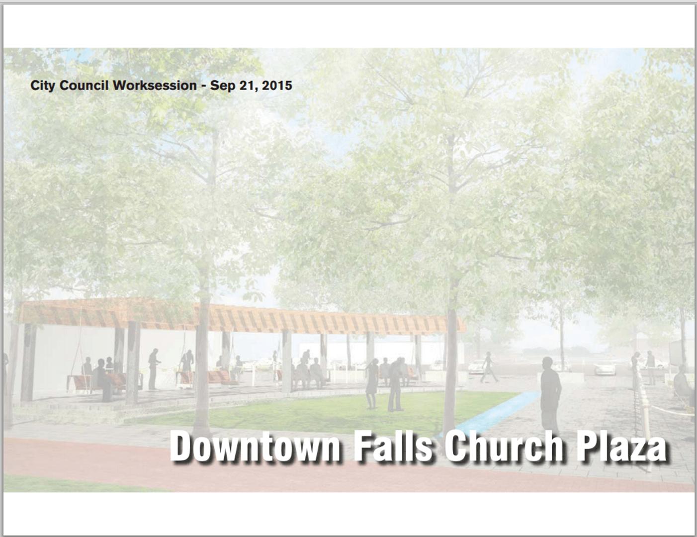 Downtown Falls Church Public Plaza