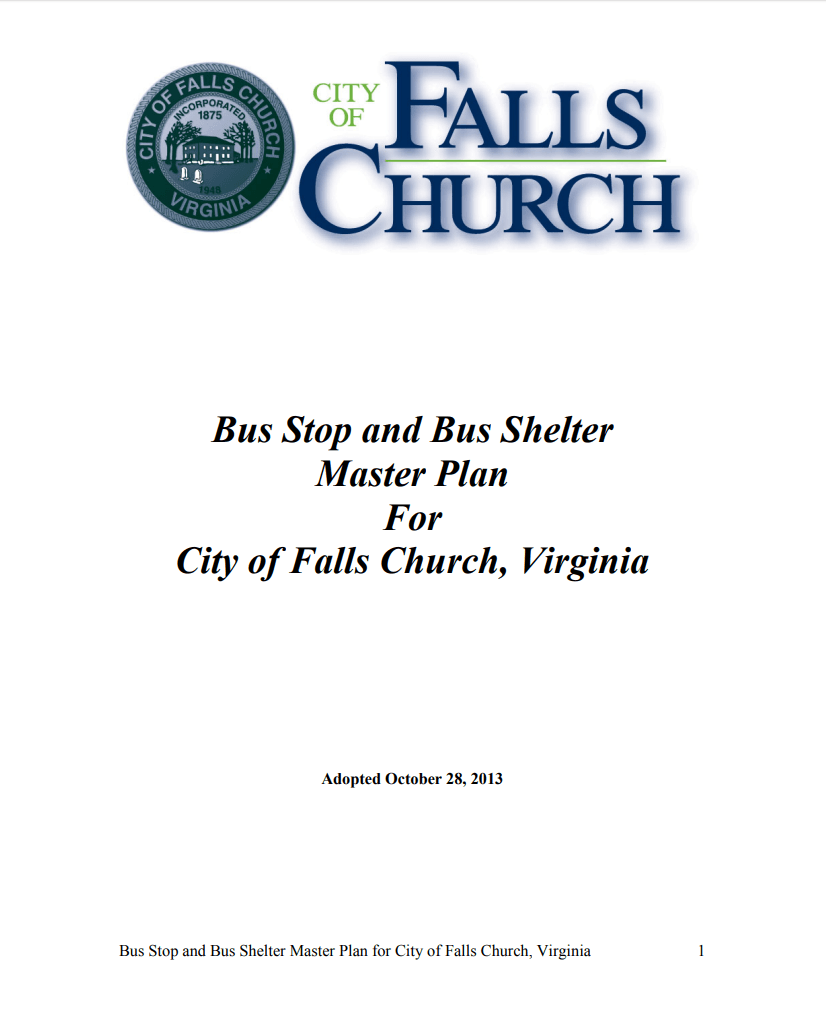Bus Stop Master Plan Cover Opens in new window
