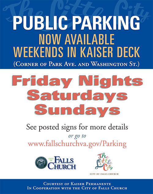 Kaiser parking garage sign