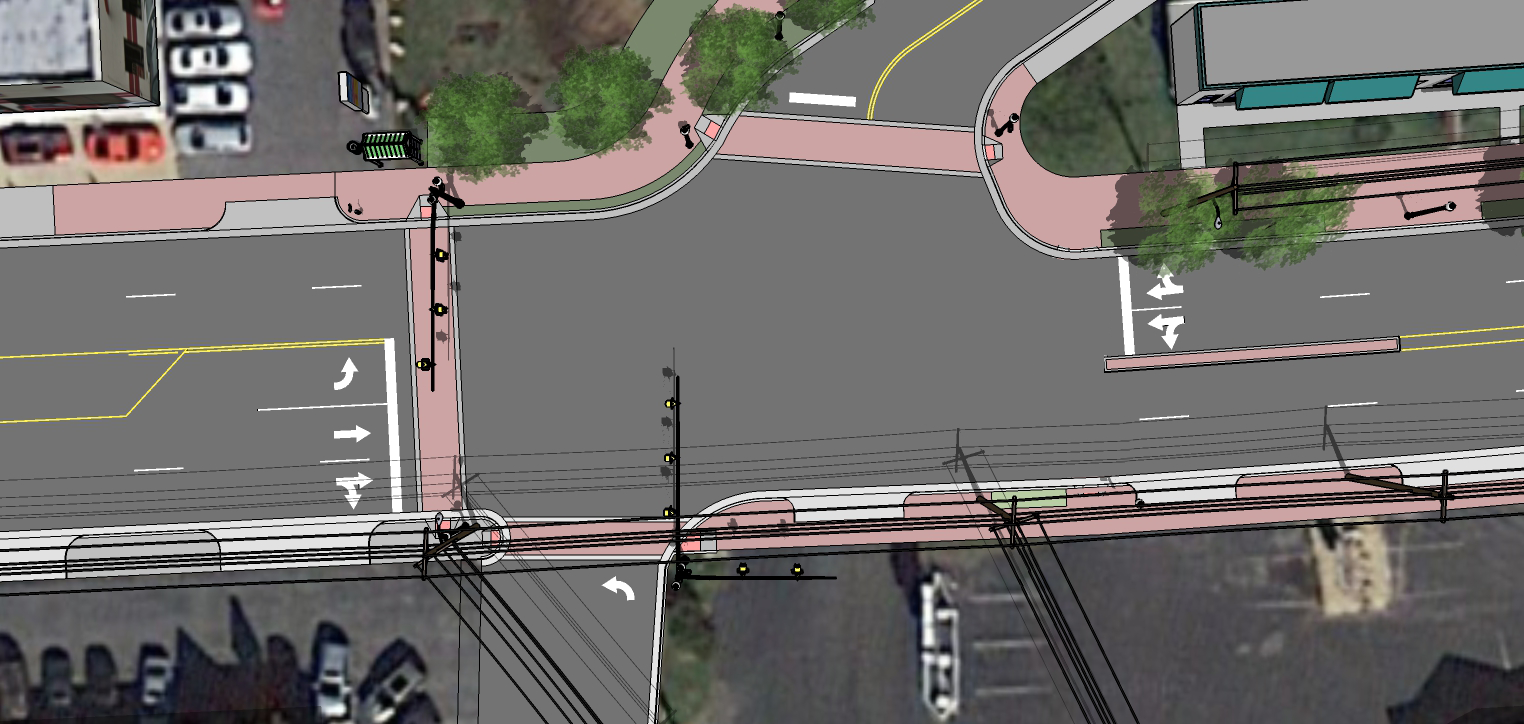 South Washington and South Maple Intersection rendering