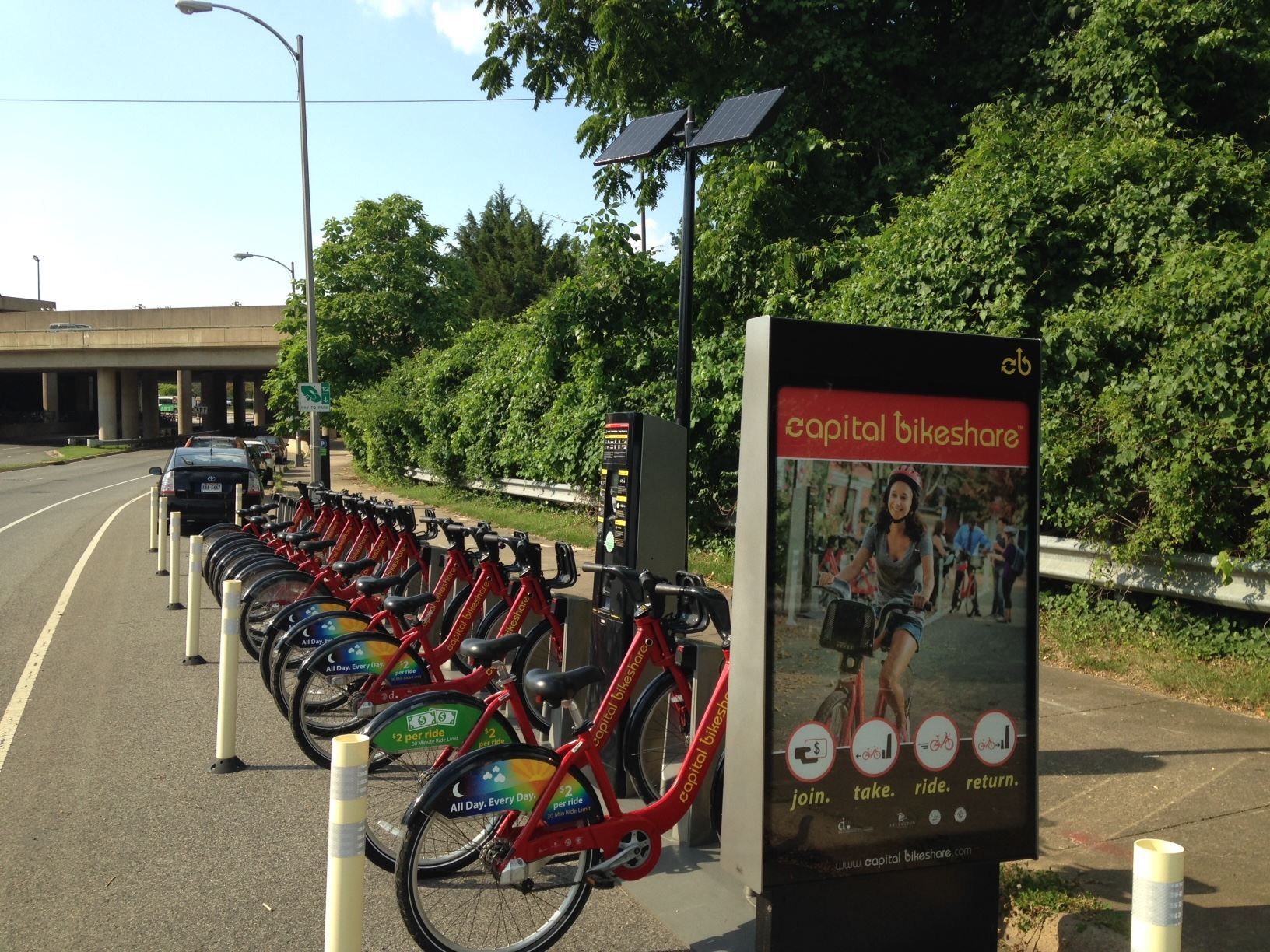 East Falls Church Bikeshare Station