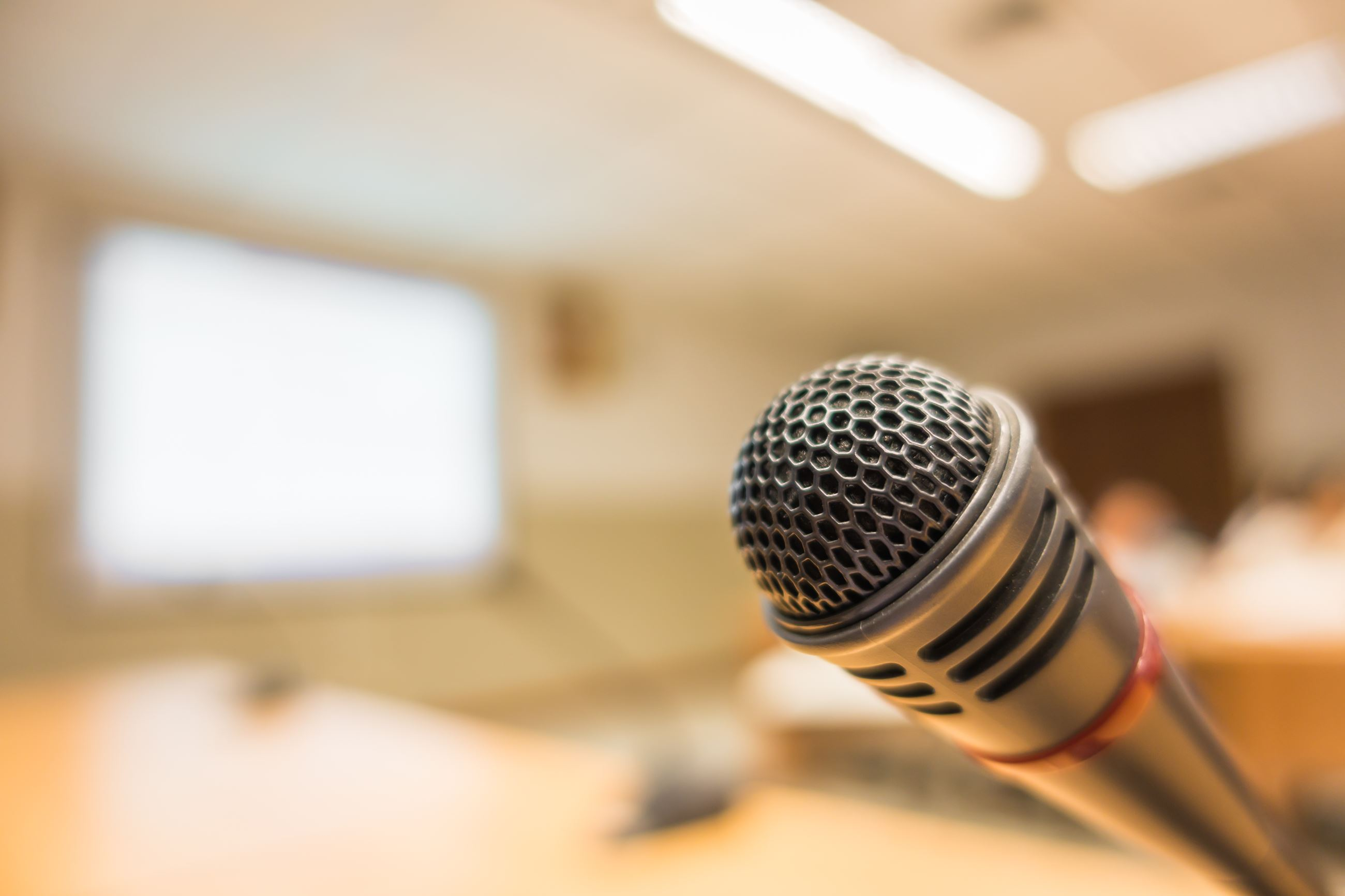 Microphone stock photograph
